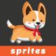Spotted Corgi Sprites Game Asset - GraphicRiver Item for Sale