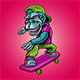 Monkey and Skateboard - GraphicRiver Item for Sale