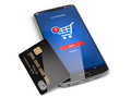 Mobile phone or smartphone with credit card. - PhotoDune Item for Sale