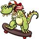 Skateboarding Dinosaur - GraphicRiver Item for Sale
