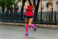 girl runner in compression socks run - PhotoDune Item for Sale
