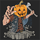 Zombie with Pumpkin Head Killer - GraphicRiver Item for Sale