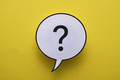 Round speech or thought bubble with question mark - PhotoDune Item for Sale