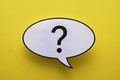 Oval speech or thought bubble with question mark - PhotoDune Item for Sale