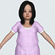 Realistic Fat Child Girl - 3DOcean Item for Sale