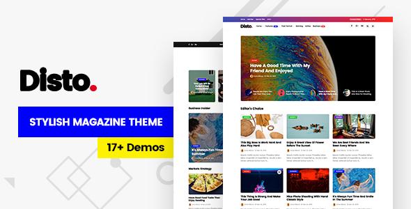 Disto - WordPress Blog Magazine Theme Download
