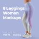 8 Women Leggins  Mockups - GraphicRiver Item for Sale