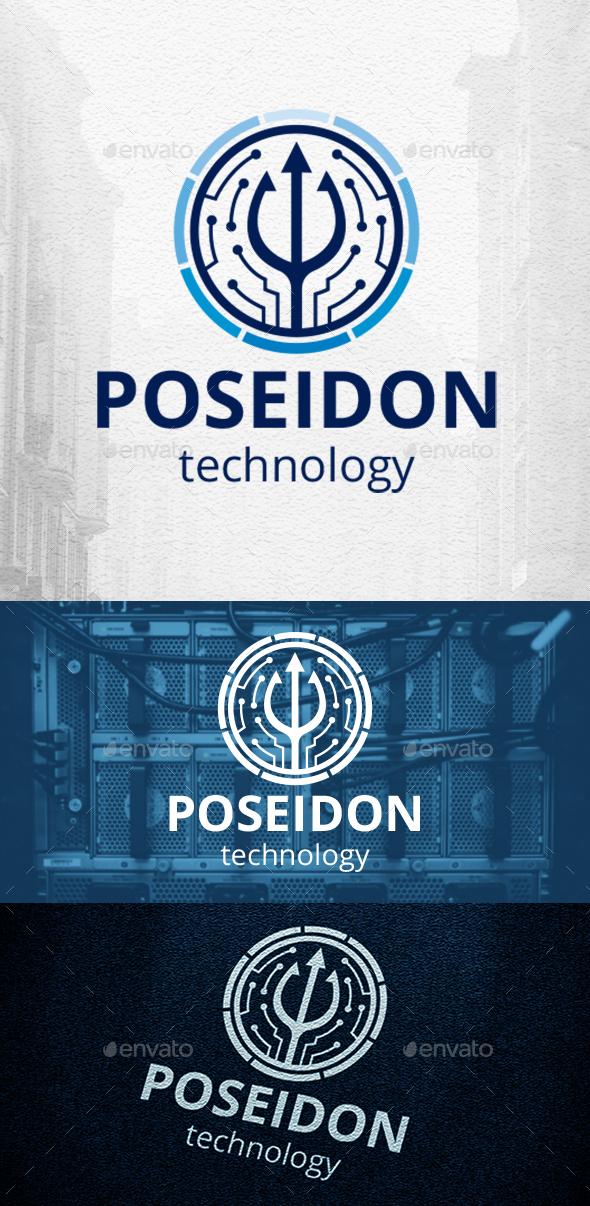 Poseidon Technology Logo Template
