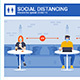 Coronavirus Safety Advice - Social Distancing at Restaraunt - GraphicRiver Item for Sale