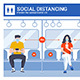 Social Distancing and Coronavirus Prevention - GraphicRiver Item for Sale