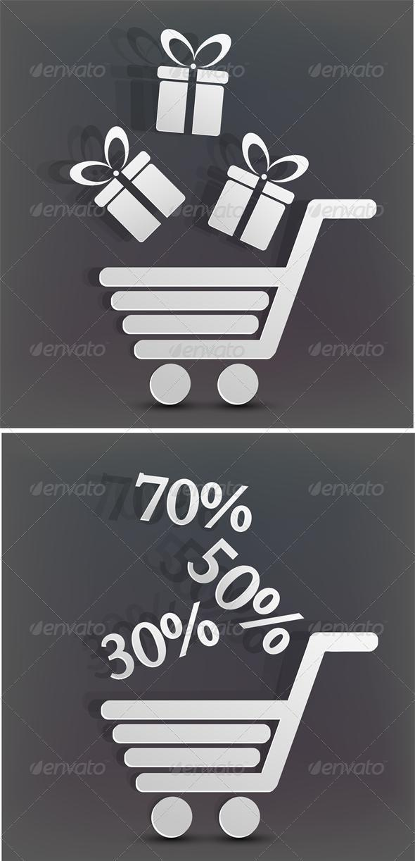 Vector holiday shopping background