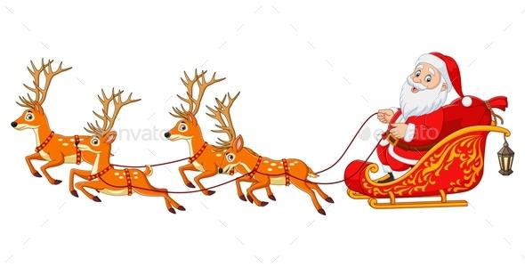 Christmas Cartoon Santa