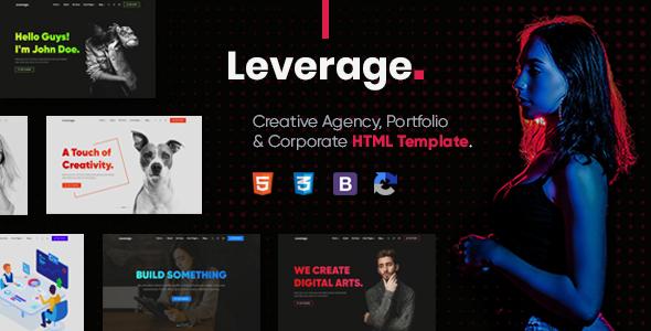 Leverage - Creative Agency & Portfolio HTML Template