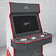 Retro Gaming Arcade Cabinet Mockup Four Players Template - GraphicRiver Item for Sale