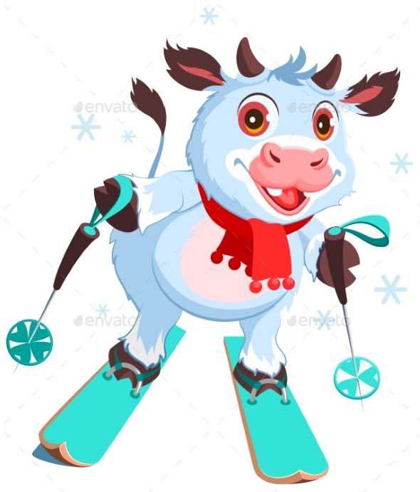 White Cow Symbol 2021 Skiing