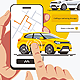 Order Taxi Using Smartphone Application - GraphicRiver Item for Sale