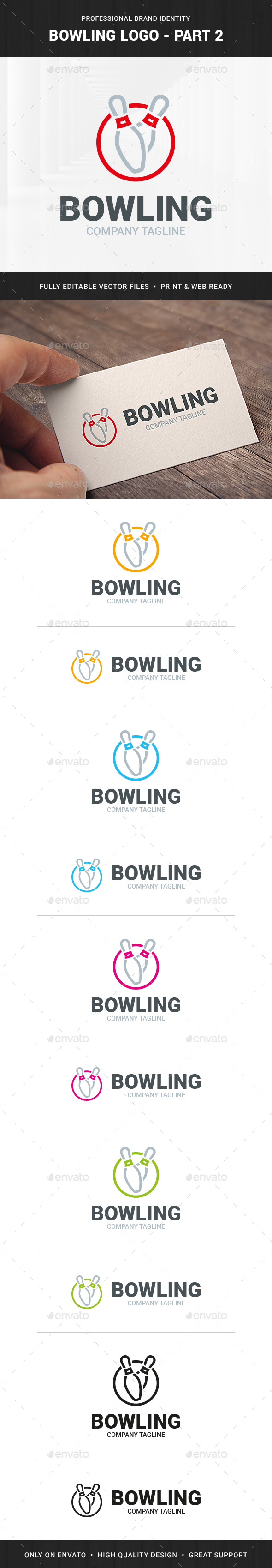 Bowling Logo Template - Part 2