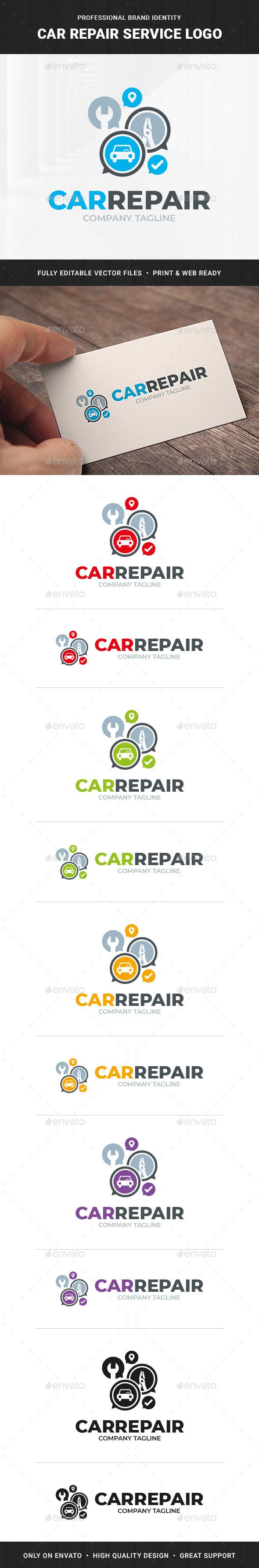 Car Repair Service Logo Template