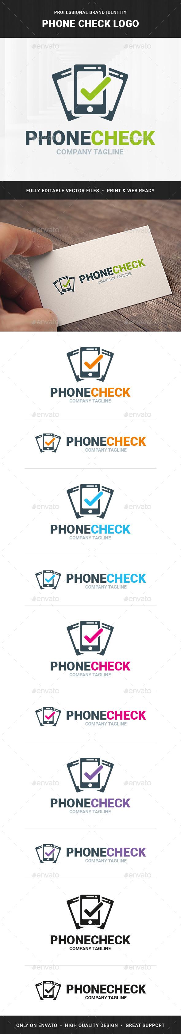 Phone Check Logo Template