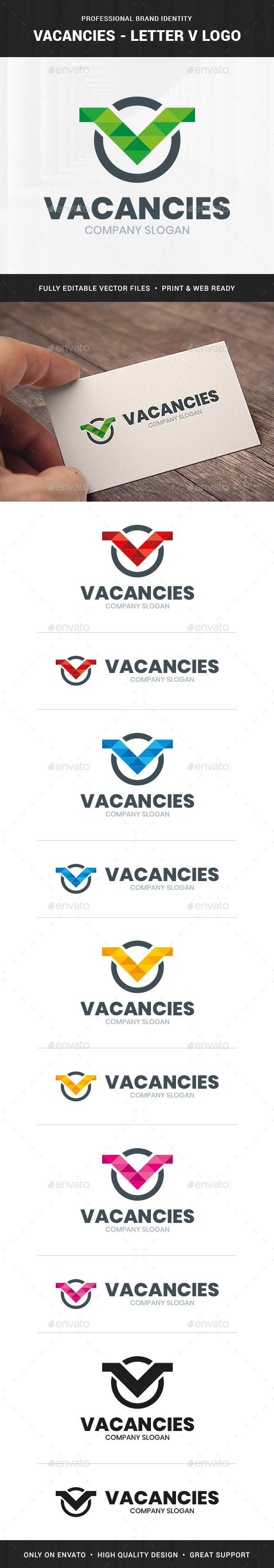 Vacancies - Letter V Logo Template