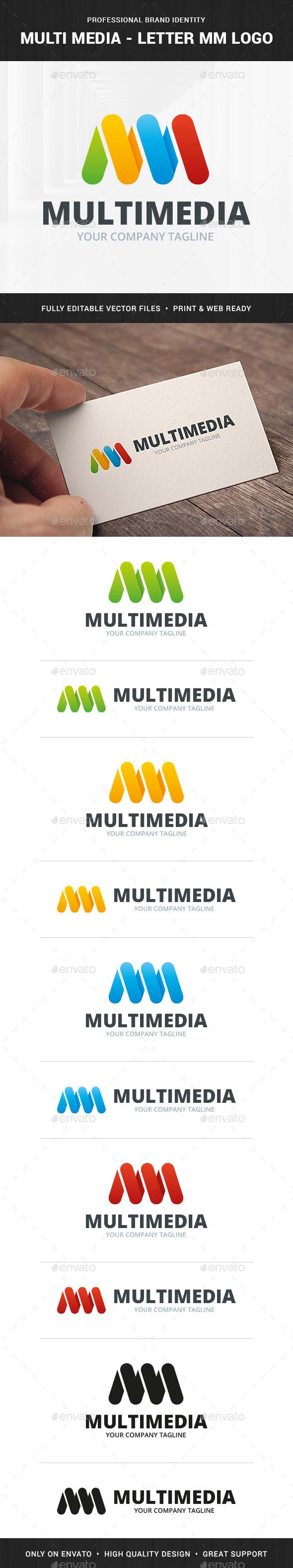 Multi Media - Letter M Logo