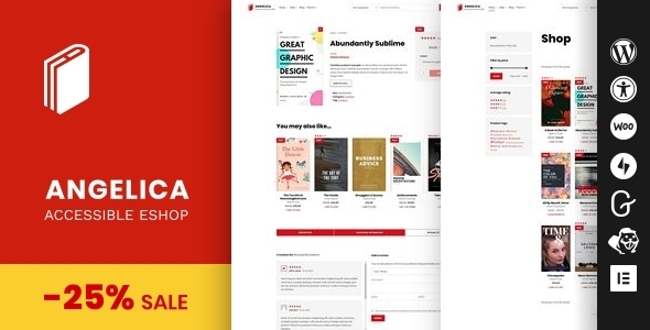 Angelica - Accessible Bookstore WordPress theme