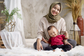 mother veiled with her little boy - PhotoDune Item for Sale