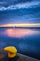 Yellow bollard at sunset - PhotoDune Item for Sale
