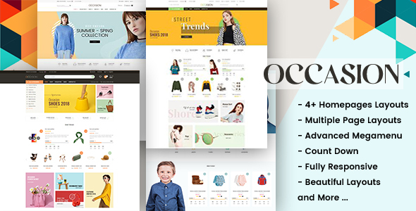 Occasion - Responsive Shopify Theme for Supermarket, Fashion, Shopping, etc...
