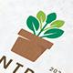 Plant Pot Decorative Logo Template - GraphicRiver Item for Sale
