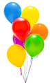 Colored balloons on a white isolated background - PhotoDune Item for Sale