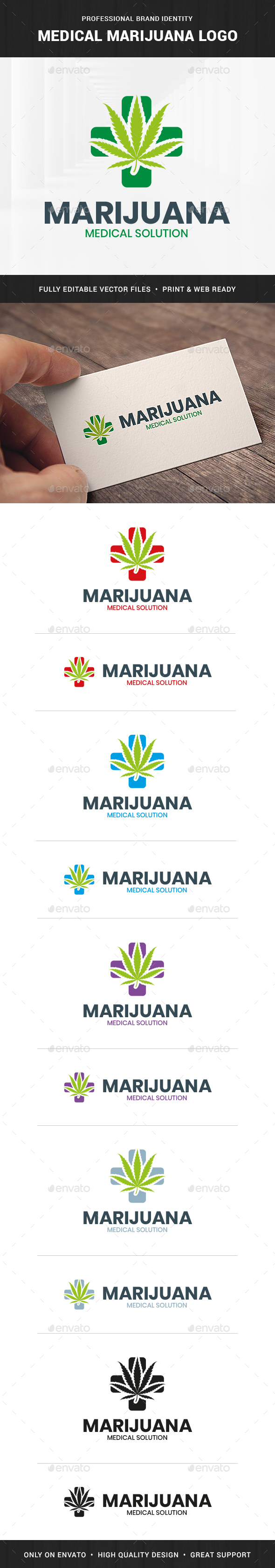 Medical Marijuana Logo Template
