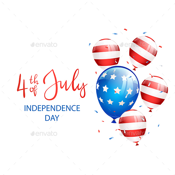 Independence Day Confetti and Balloons