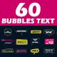 60 Bubbles Text - VideoHive Item for Sale