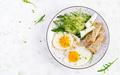 English breakfast - fried eggs, feta cheese, cucumber and arugula - PhotoDune Item for Sale