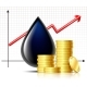 Oil Barrel Price Rises Chart and Black Drop of Oil - GraphicRiver Item for Sale