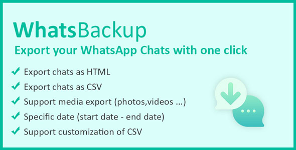 WhatsBackup - Backup WhatsApp Chats