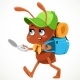 Ant in the Construction Helmet Is Considering - GraphicRiver Item for Sale
