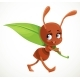 Cartoon Ant Carry Big Green Juicy Blade - GraphicRiver Item for Sale