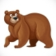 Cartoon Bear Stands on Four Legs Isolated on White - GraphicRiver Item for Sale