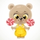 Cartoon Baby Bear with Candies in Hands - GraphicRiver Item for Sale
