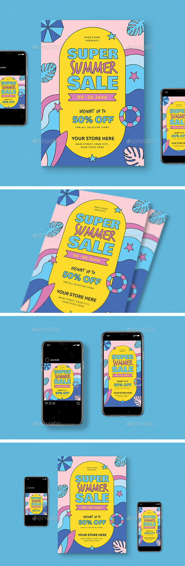Summer Party Sale Flyer