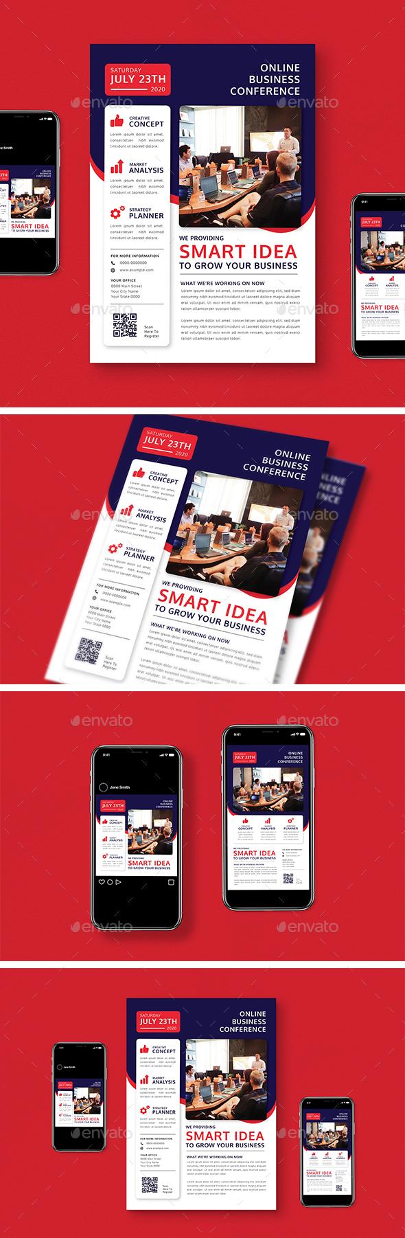Online Conference Flyer Pack