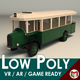 Low Poly Vintage Bus 03 - 3DOcean Item for Sale