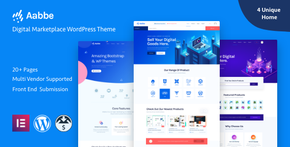 Aabbe – Digital Marketplace WordPress Theme 1