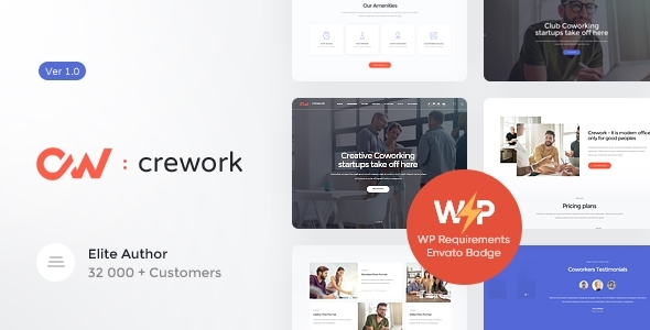 Crework | Coworking and Creative Space WordPress Theme