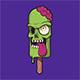 Green Ice Cream Skull With Creamy Brain - GraphicRiver Item for Sale