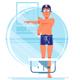Man Swim Coach Warms Up - GraphicRiver Item for Sale