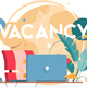 New Vacancy with Laptop for Distance Communication - GraphicRiver Item for Sale