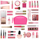 Vector Makeup Cosmetics with Rose Cosmetic Bag - GraphicRiver Item for Sale